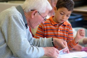 old man and boy learning google images